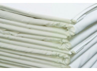 "90"" x115"" T-180 White Percale Queen XL Flat Sheets"