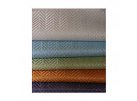 "72"" x 74"" Ezy-Hang Chevron Shower Curtain, Olive"