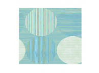 "54"" x 80"" Full Size Martex RX Box Spring Wrap, Circles and Stripes Aqua"