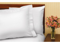 "54"" x 75"" x 9"" T-180 White Full Fitted Percale Fitted Sheets"