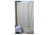 6' x 6' Super Stripe Shower Curtain, White