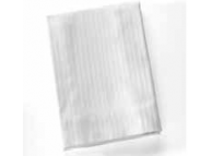 "78"" x 80"" x 17"" King White Satin Stripe Fitted Sheets"