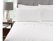 "69"" x 104"" T-200 Millennium Twin White 60/40 Percale Sheets"
