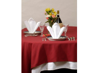 "120"" Round Cotton Craft Dynasty Tablecloths,  7.2 oz, Ivory, Per Dozen"
