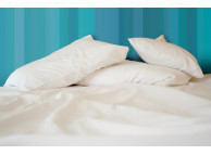 "54"" x 80"" x 12"" T-200 White 60/40 Full XLD Size Percale Fitted Sheets"