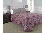"81"" x 110"" Martex Rx Bedspread, Twin Size, Madeline Berry Silver"
