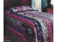 "71"" x 102"" Martex Palmer Bedspread, Multicolor, Fitted Twin Size"