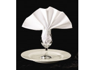 "87"" Round Permalux® 50/50 White Momie Tablecloths"